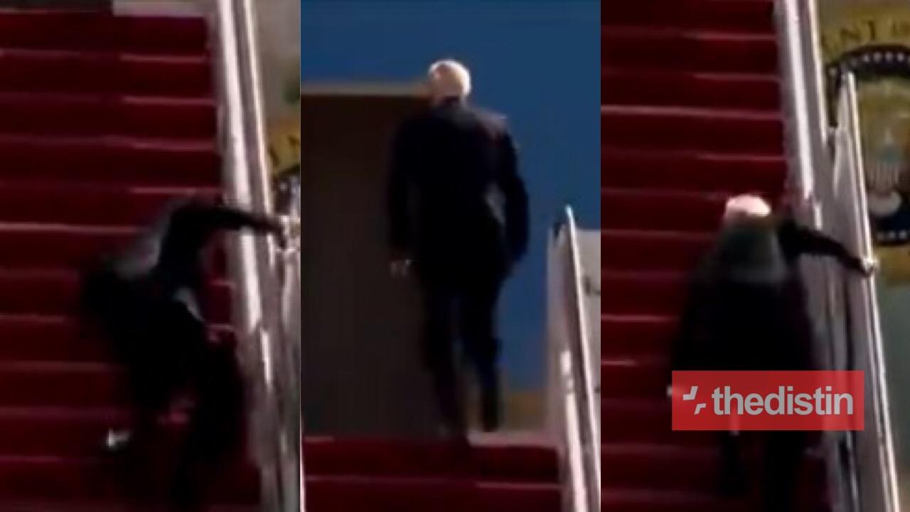 VIDEO: Joe Biden Falls Three Times Trying To Climb Stairs To Board Air Force One, Donald Trump Jr. Mocks Him Mercilessly