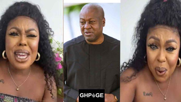 VIDEO : Afia Schwarzenegger reacts to leaked audio of her plotting against John Mahama