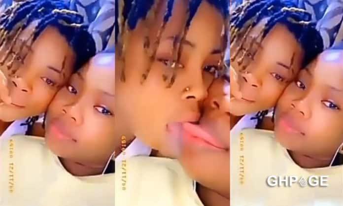 Video of fresh Lesbobo girls having a good time in the bedroom pops up online